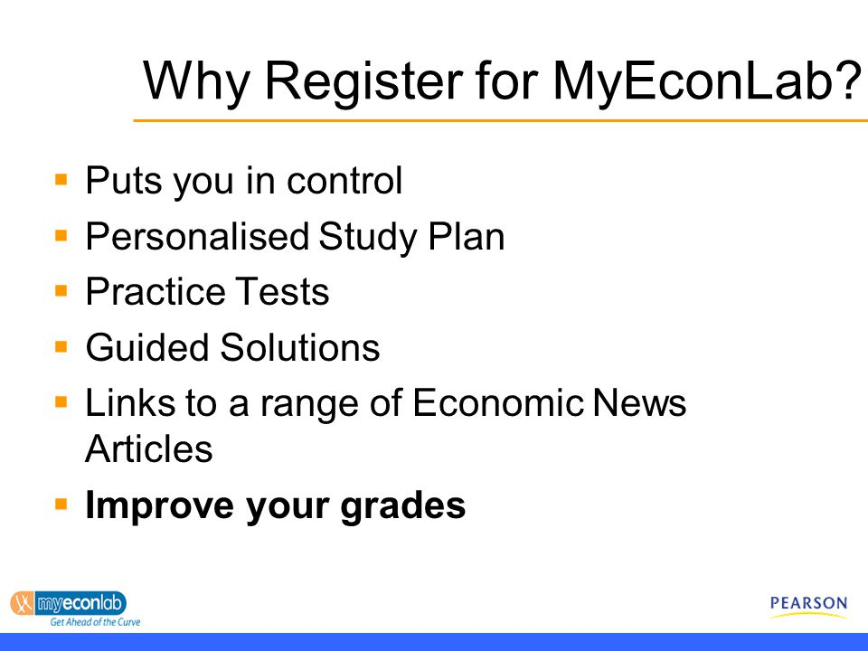 Why Register for MyEconLab.