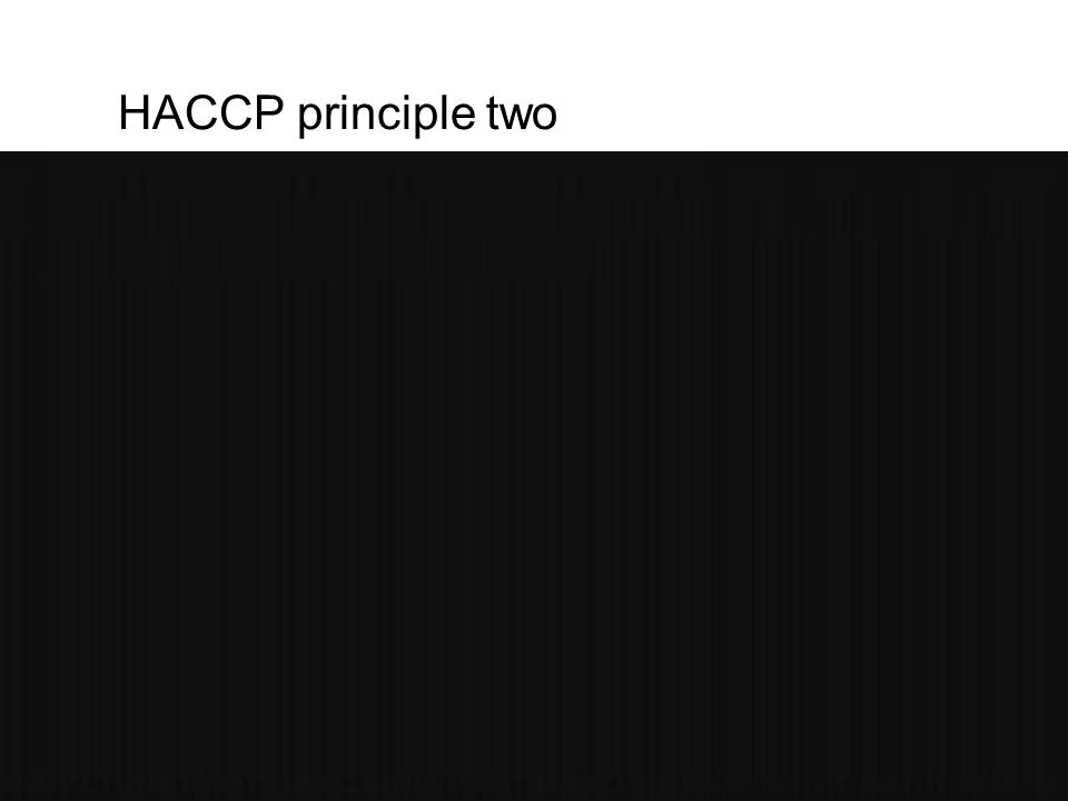 HACCP principle two