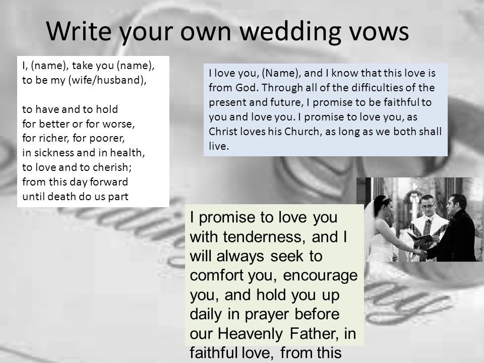 writing my own wedding vows Blog » three planning tips for writing your wedding vows  three planning tips for writing your  some of my couples have used in writing their own.
