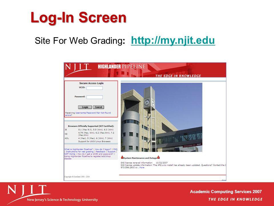 highlander pipeline Academic Computing Services 2007 Highlander Pipeline Web Grading ...