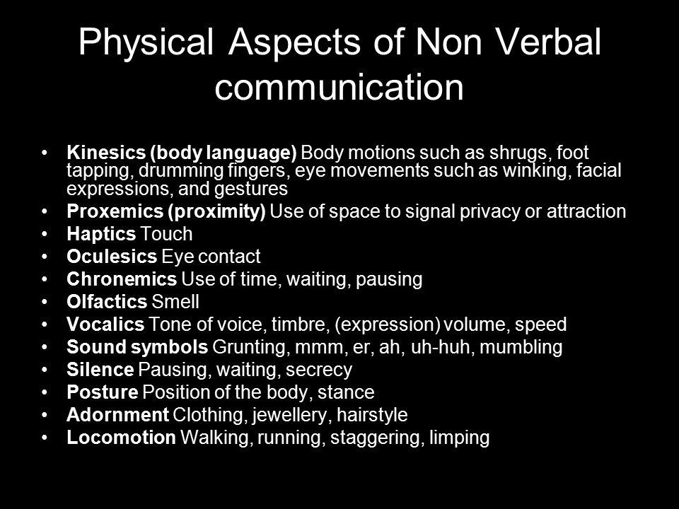 Facial body language attraction