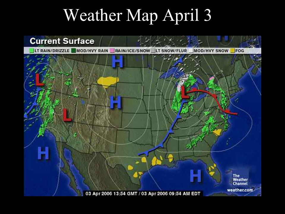 Weather Map April 3 Atmospheric Pressure Air Pressure Affects Wind