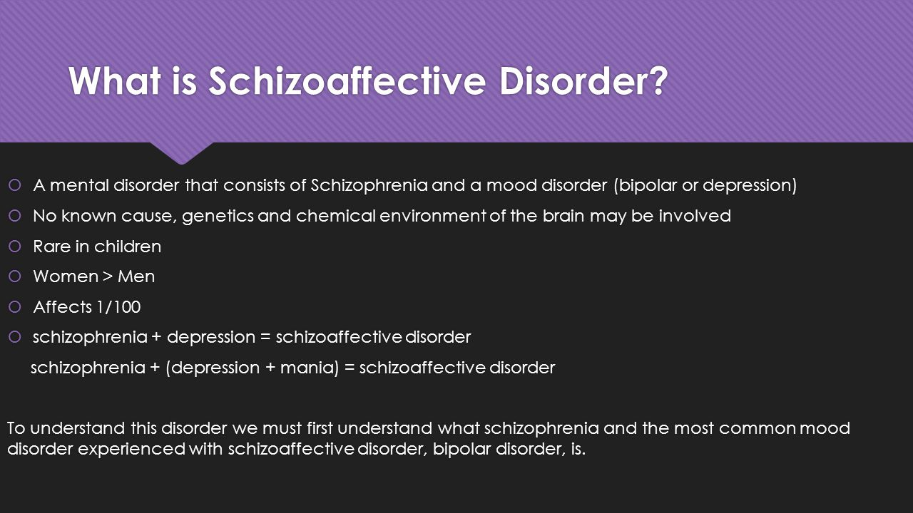 What is Schizoaffective Disorder.