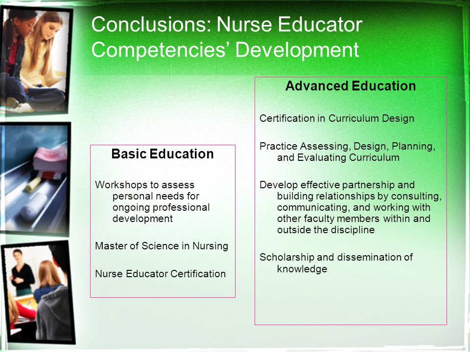 Competencies Of Nurse Educators In Curriculum Design A Delphi Study