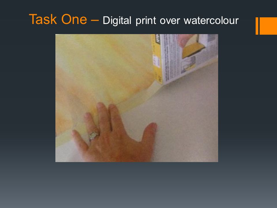 Task One – Digital print over watercolour