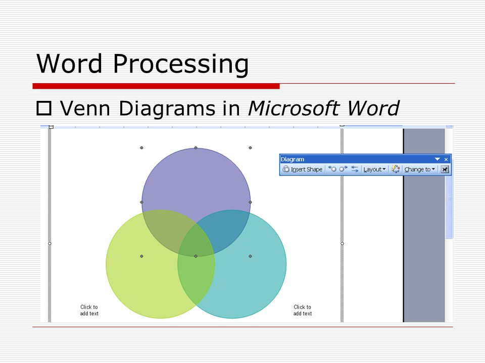 Word processing mathematics word processing more professional 17 word processing venn diagrams in microsoft word ccuart Image collections