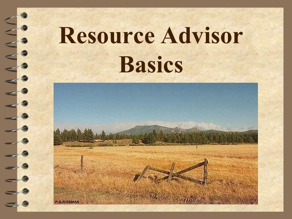 Resource Advisor Basics  READ Qualifications 4 Basic 32