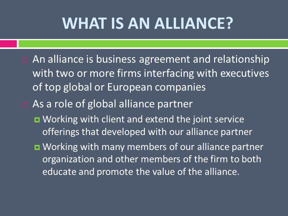 What Is An Alliance Group 8 What Is An Alliance An Alliance Is
