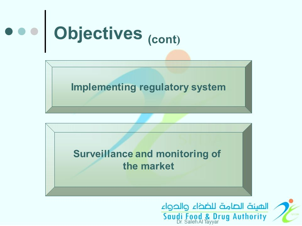Implementing regulatory system Dr.