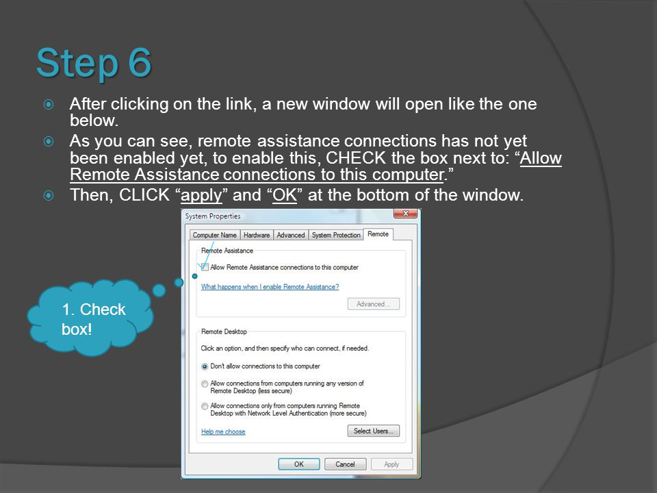 Step 6  After clicking on the link, a new window will open like the one below.