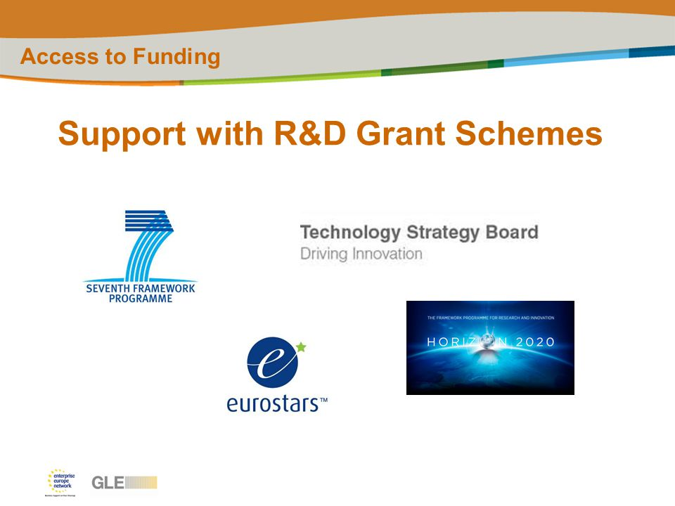 Support with R&D Grant Schemes Access to Funding