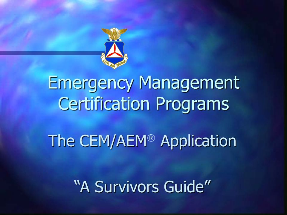 Professionalism in Emergency Management The Road to Certification In ...