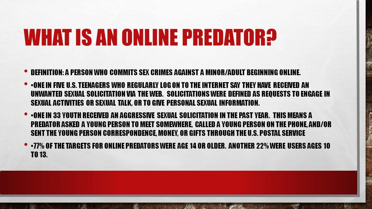 Cyber predator definition