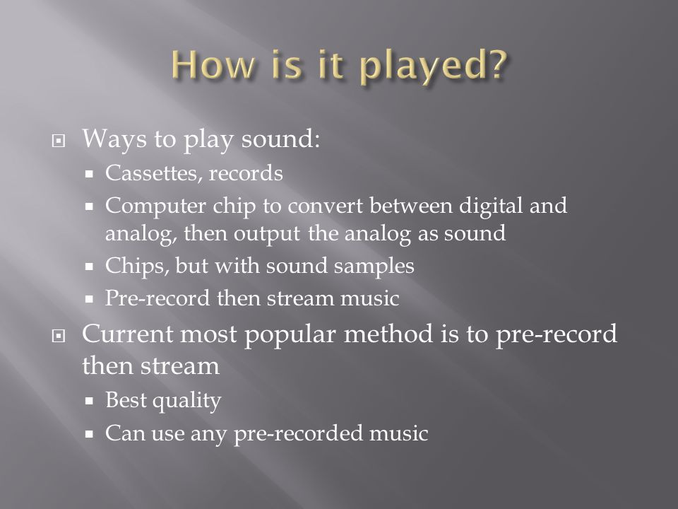 Jonathan Crowe Image Sources:   What sets video game music
