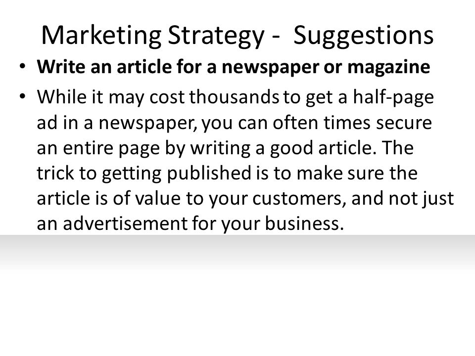 how to get an article published in a local newspaper
