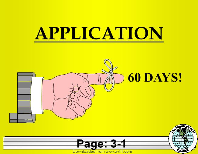 Downloaded from   APPLICATION 60 DAYS! Page: 3-1