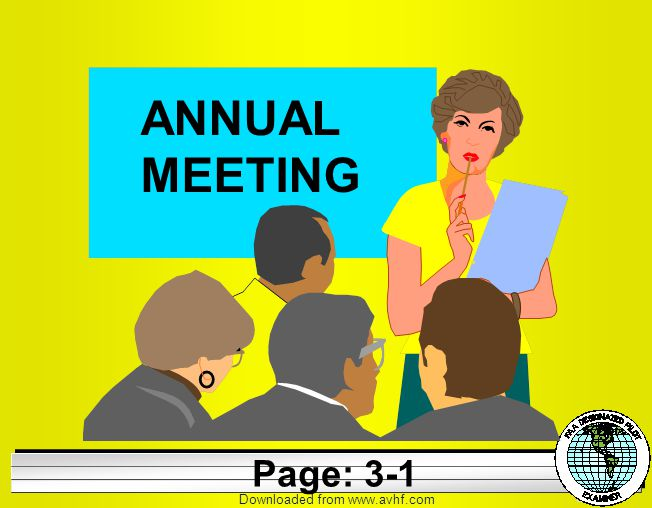 Downloaded from   ANNUAL MEETING Page: 3-1