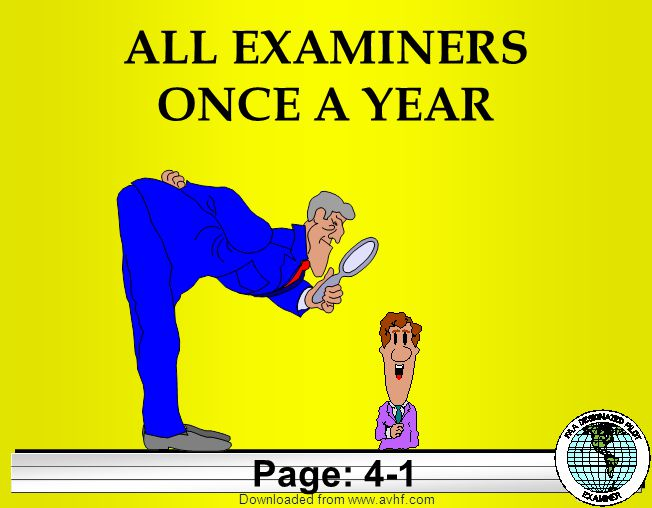 Downloaded from   ALL EXAMINERS ONCE A YEAR Page: 4-1
