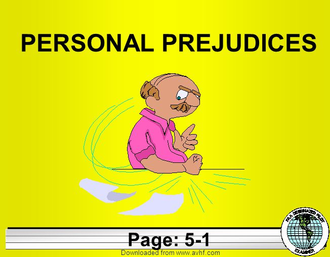 Downloaded from   PERSONAL PREJUDICES Page: 5-1