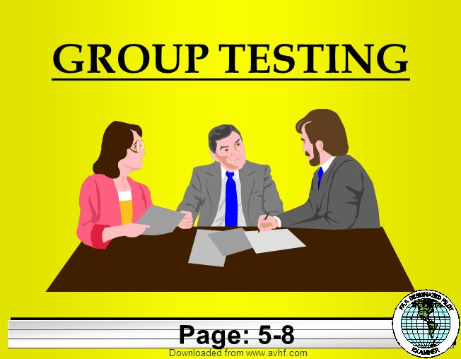 Downloaded from   GROUP TESTING Page: 5-8