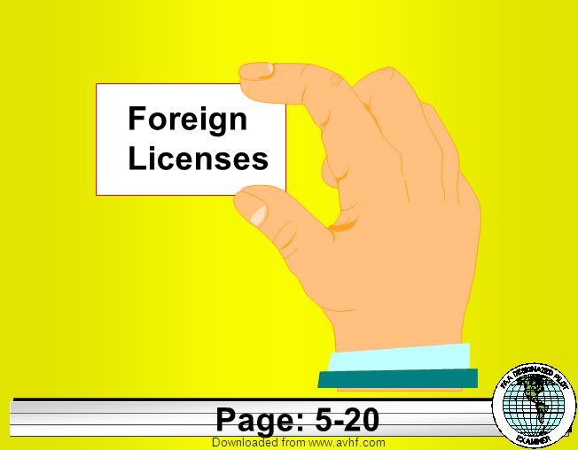 Downloaded from   Foreign Licenses Page: 5-20