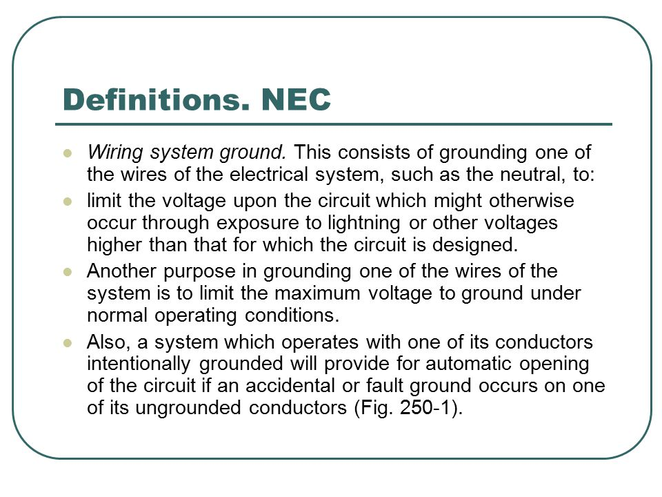 Electrical Grounds By: Professor Wilmer Arellano. - ppt download