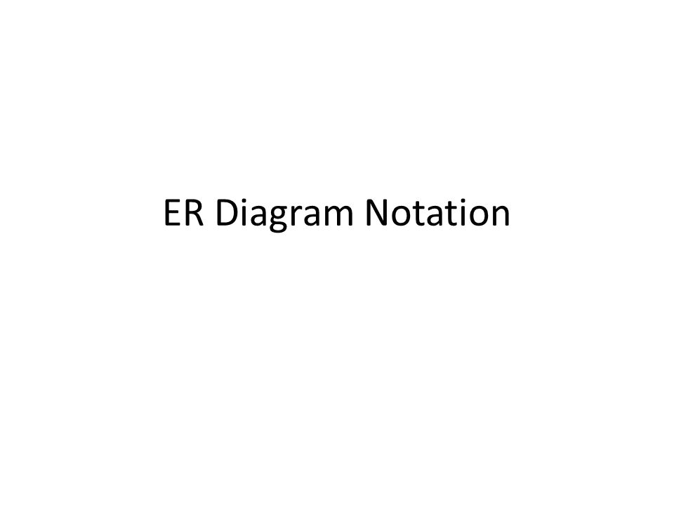 Er Diagram Notation E R Diagram Chen Model Entity Represented By