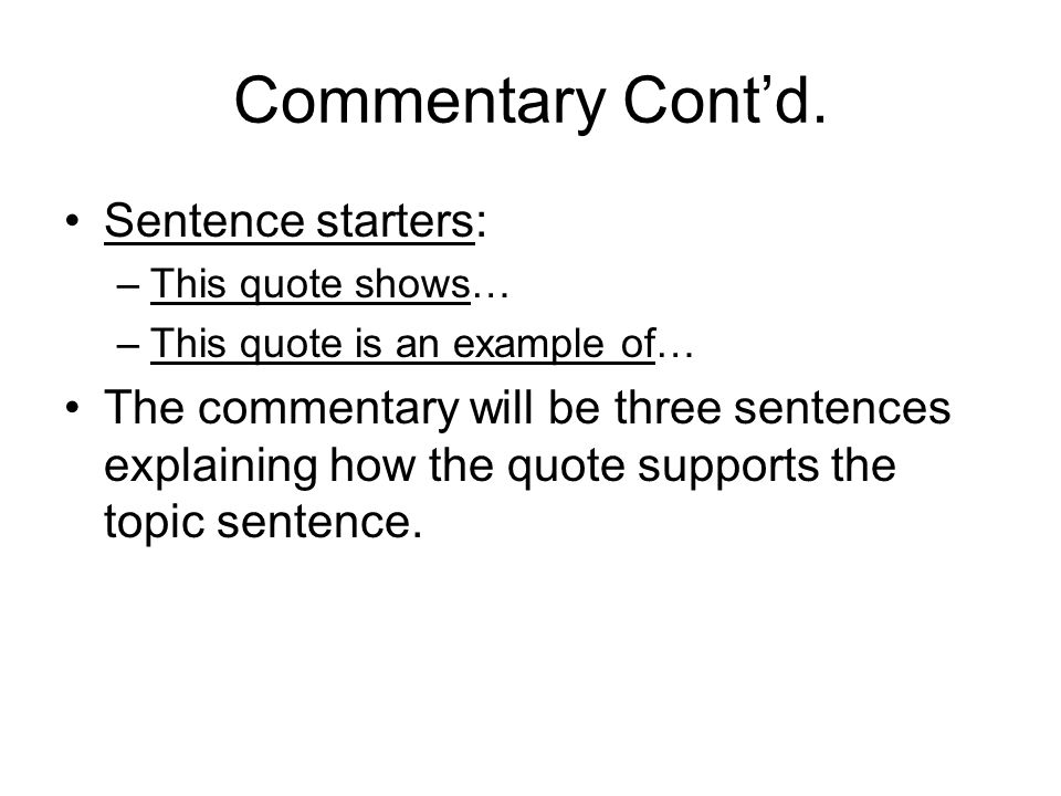 body paragraph sentence starters