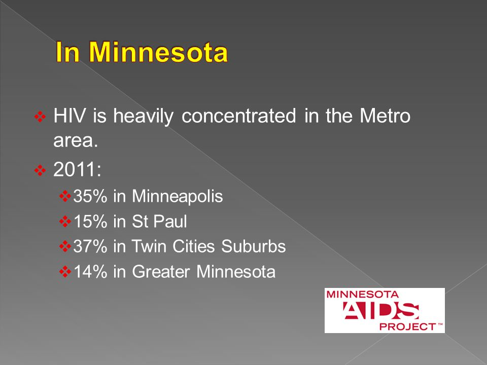  HIV is heavily concentrated in the Metro area.
