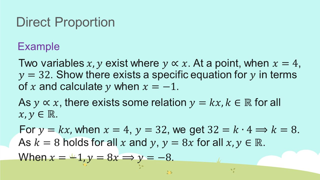 Proportion to Powers of a Variable Slideshow 24, Mathematics Mr ...