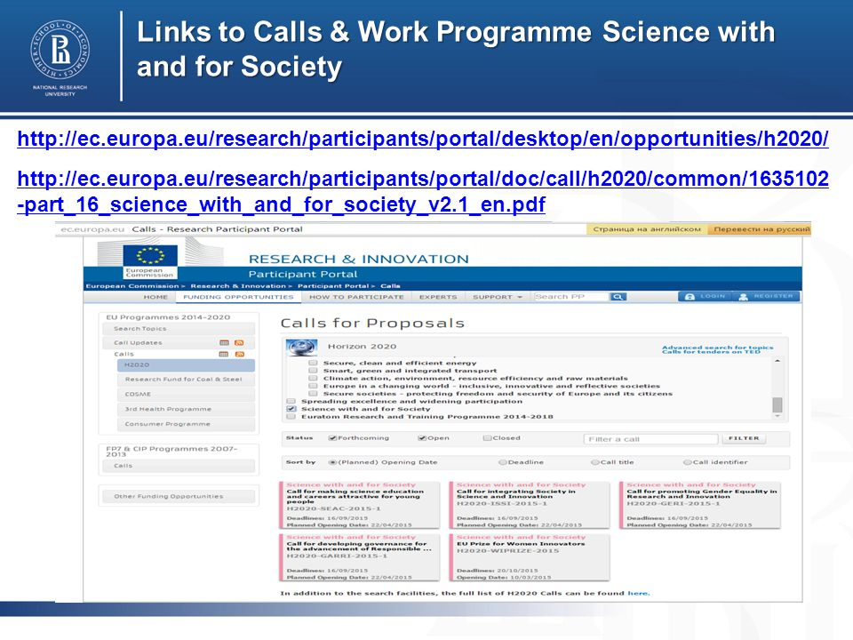 Links to Calls & Work Programme Science with and for Society     -part_16_science_with_and_for_society_v2.1_en.pdf