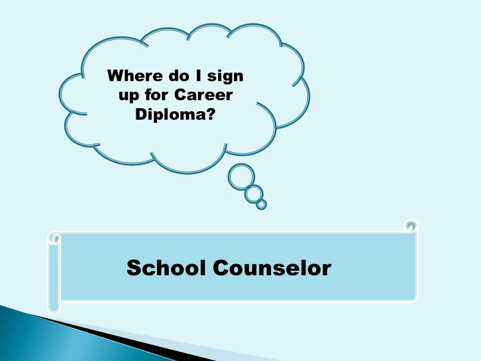 Where do I sign up for Career Diploma School Counselor