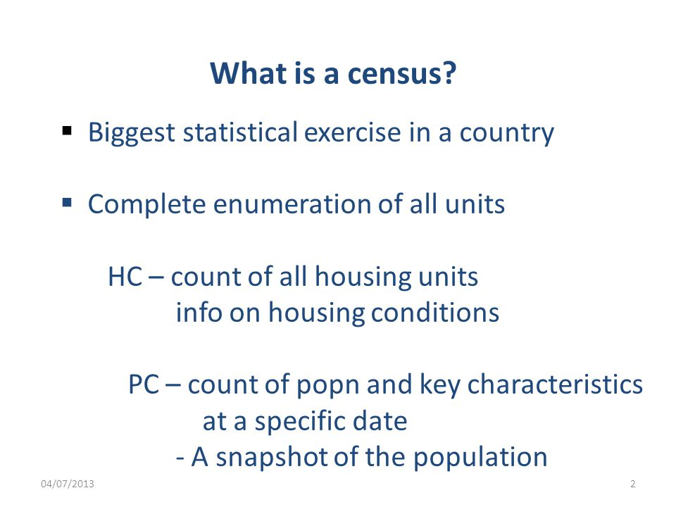 What is a census.