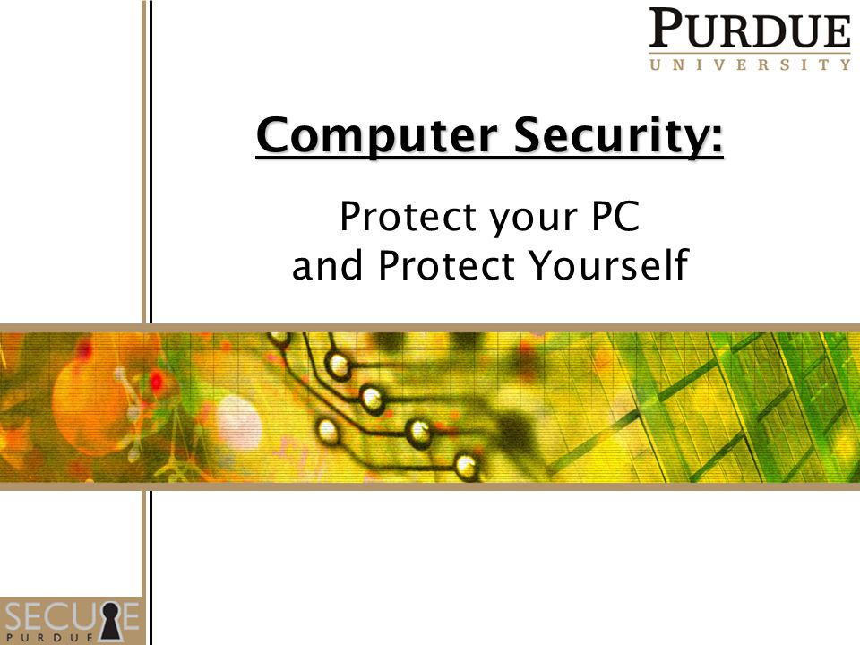 1 Computer Security: Protect your PC and Protect Yourself
