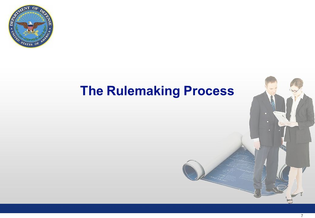 7 The Rulemaking Process