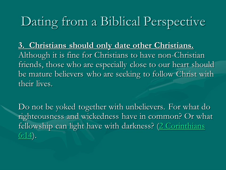 Scripture about dating an unbeliever a term