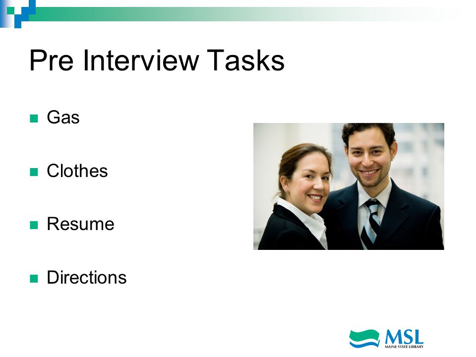 Pre Interview Tasks Gas Clothes Resume Directions
