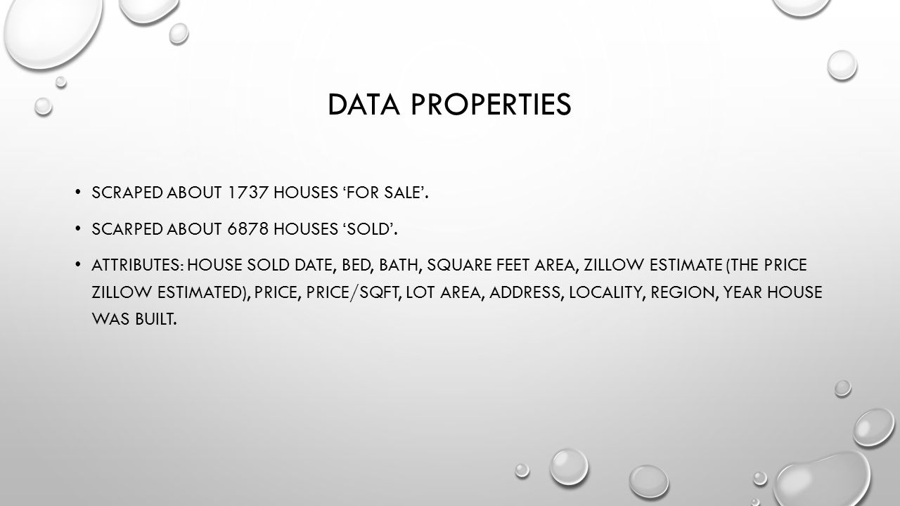 ZILLOW HOUSE PRICE PREDICTION GROUP MEMBERS: LINGZI HONG