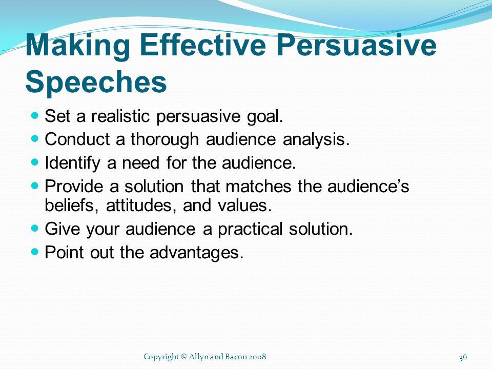 persuasive speech audience analysis