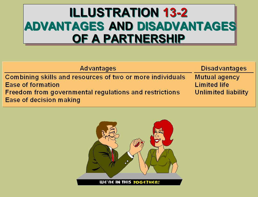 ILLUSTRATION 13-2 ADVANTAGES AND DISADVANTAGES OF A PARTNERSHIP