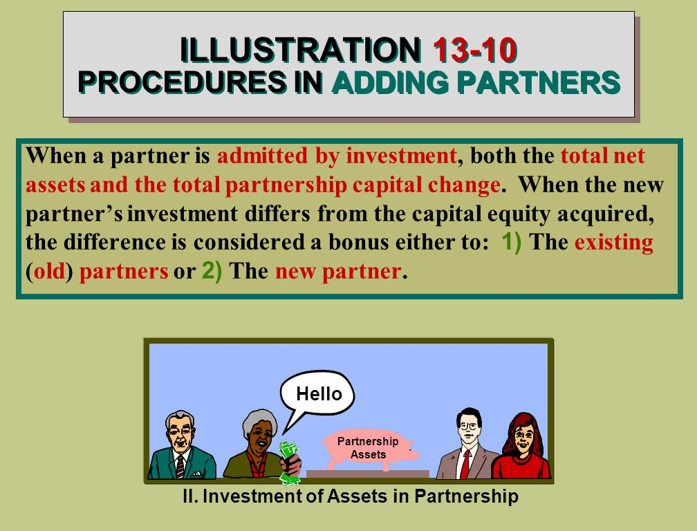 ILLUSTRATION PROCEDURES IN ADDING PARTNERS II.