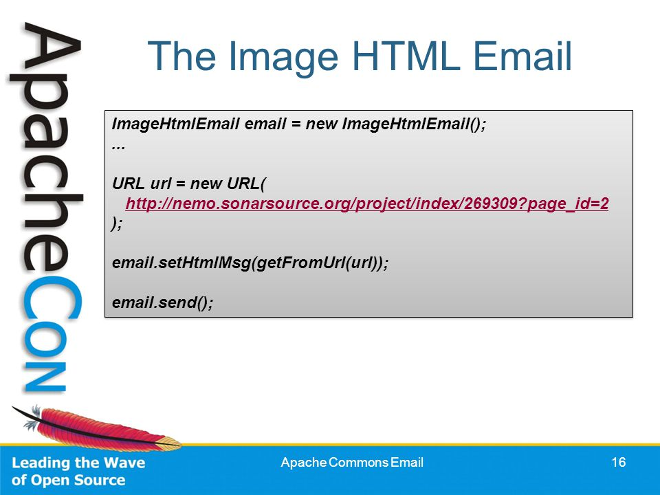 apache commons simplifying the java mail api siegfried  ?page_id=2 #12