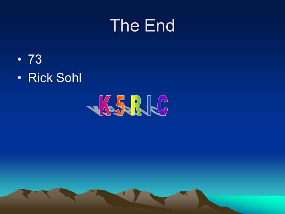 The End 73 Rick Sohl