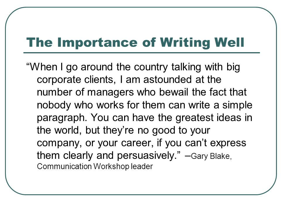 importance of writing skills in students life