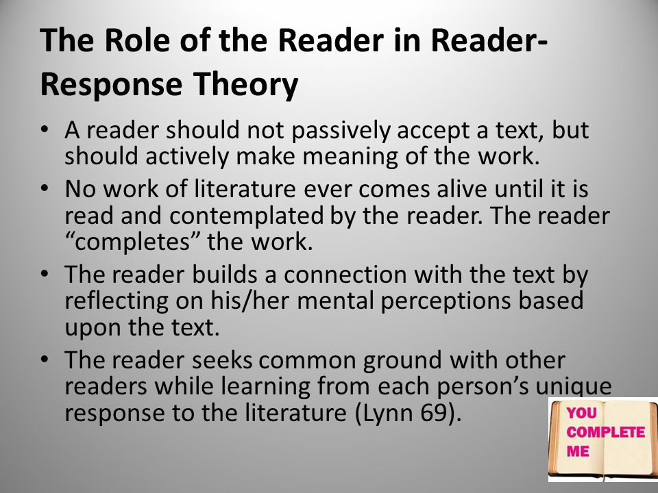 what is reader response theory