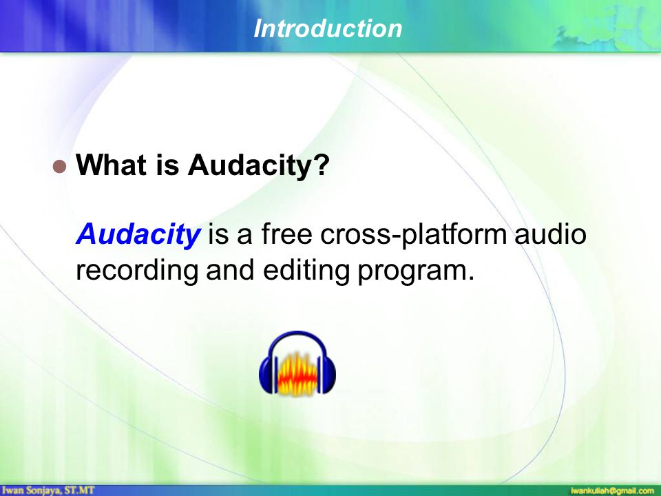 Digital audio editing software (Audacity) Audacity