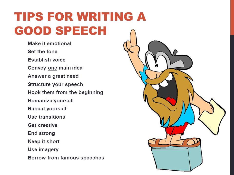how to make a good speech