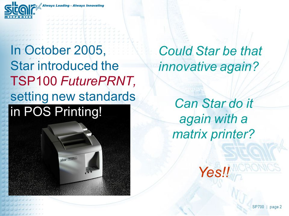 "Star's ""Superfast"" Clamshell™  SP700 
