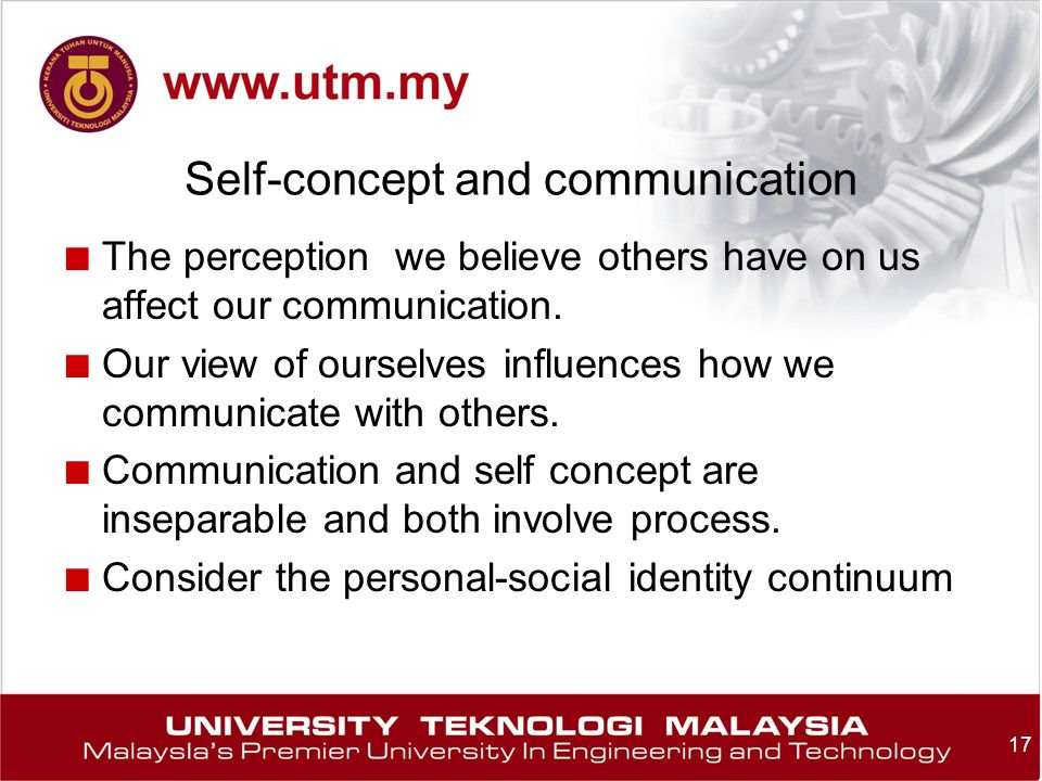 how self concept affects communication