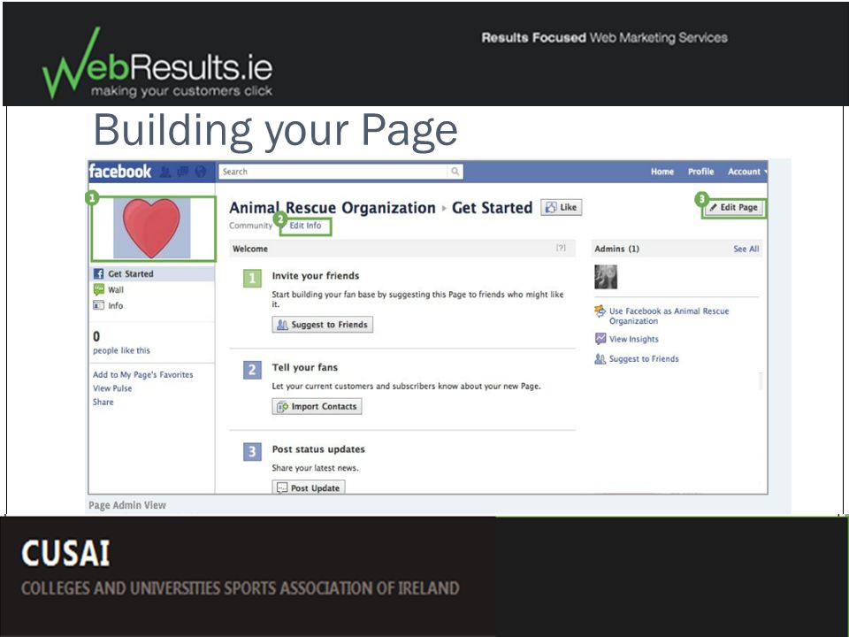 Building your Page